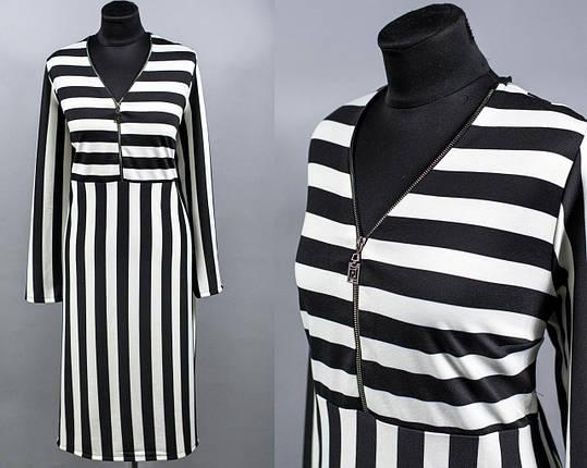 """Платье женское с принтом ткань """"Французского трикотажа"""" размер 58, 60 батал, фото 2"""