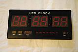 Настінні електронні годинники LED великі, фото 2