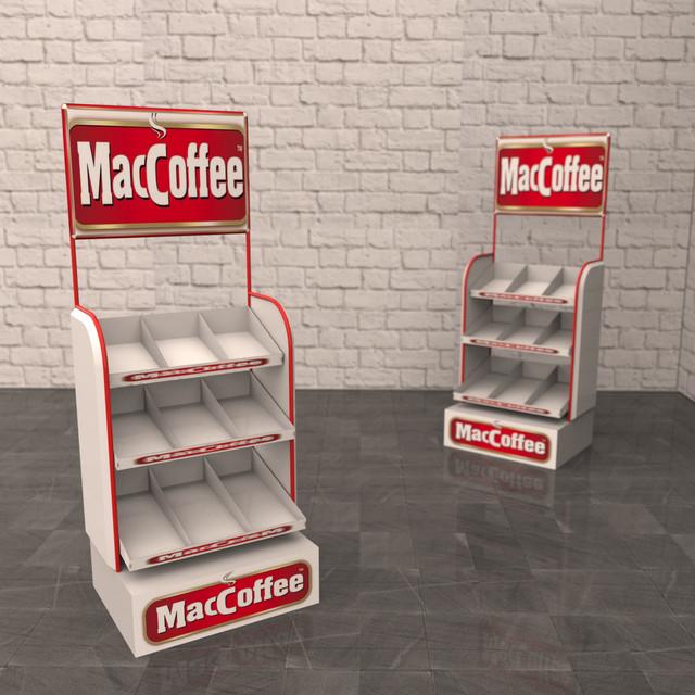Производство рекламных стоек Maccoffee от производителя