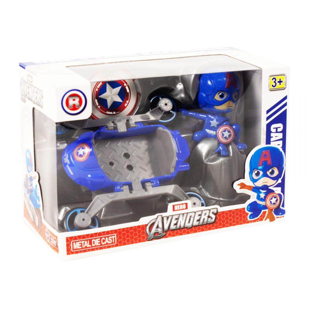 """Супергерой с машинкой """"Капитан Америка"""""""