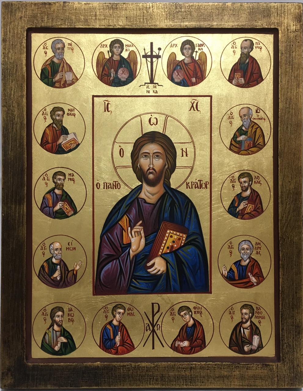 Икона Спаситель и Апостолы