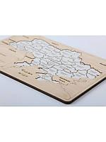 """Пазл """"Карта Украины"""" (мини 150*210 с подставкой) деревяный, фото 1"""