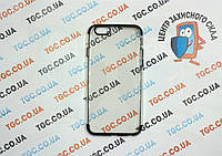 Чехол силиконовый с цветным контуром для iPhone 6/6s - black