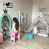 Зеркало в детскую комнату Princess бирюзовое, фото 3