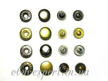 Кнопка Альфа 15 мм Антик (10 шт), фото 2
