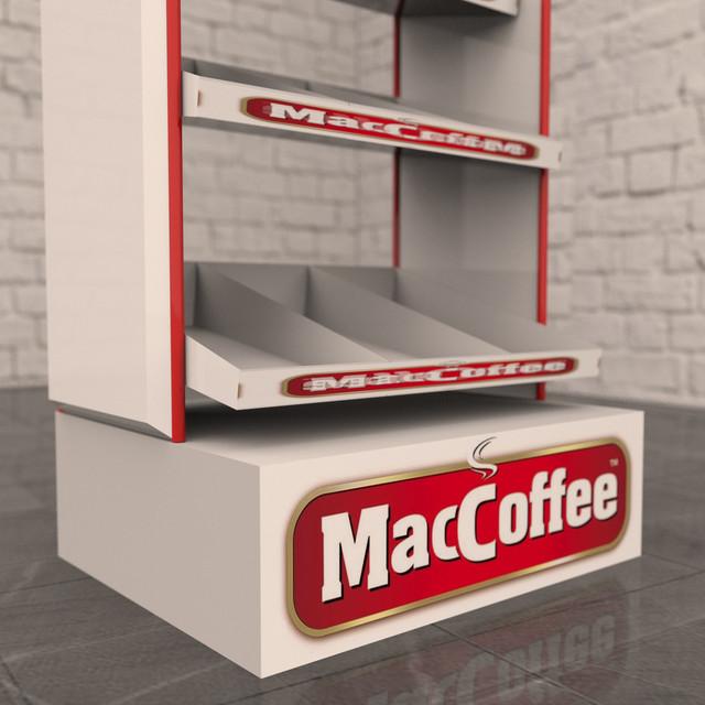 Производство рекламных стоек для Maccoffee