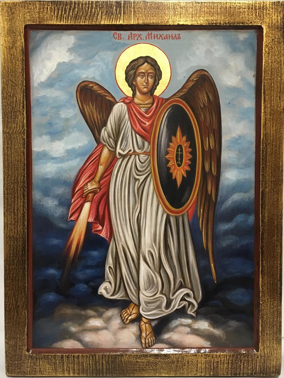 Икона Михаил с огненным мечем