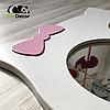 Зеркало в детскую комнату Owl белое, фото 3