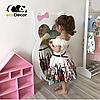 Зеркало в детскую комнату Owl белое, фото 4