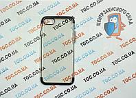 Чехол силиконовый с цветным контуром для iPhone 7 - black