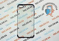 Чехол силиконовый с цветным контуром для iPhone 7 Plus - blue