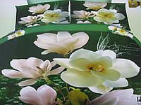 Натуральные комплект постельного белья (двуспальный) с орнаментом , фото 1