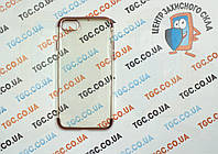 Чехол силиконовый с цветным контуром для iPhone 8 -rose gold