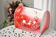 Сундучок свадебный для денег, Красный