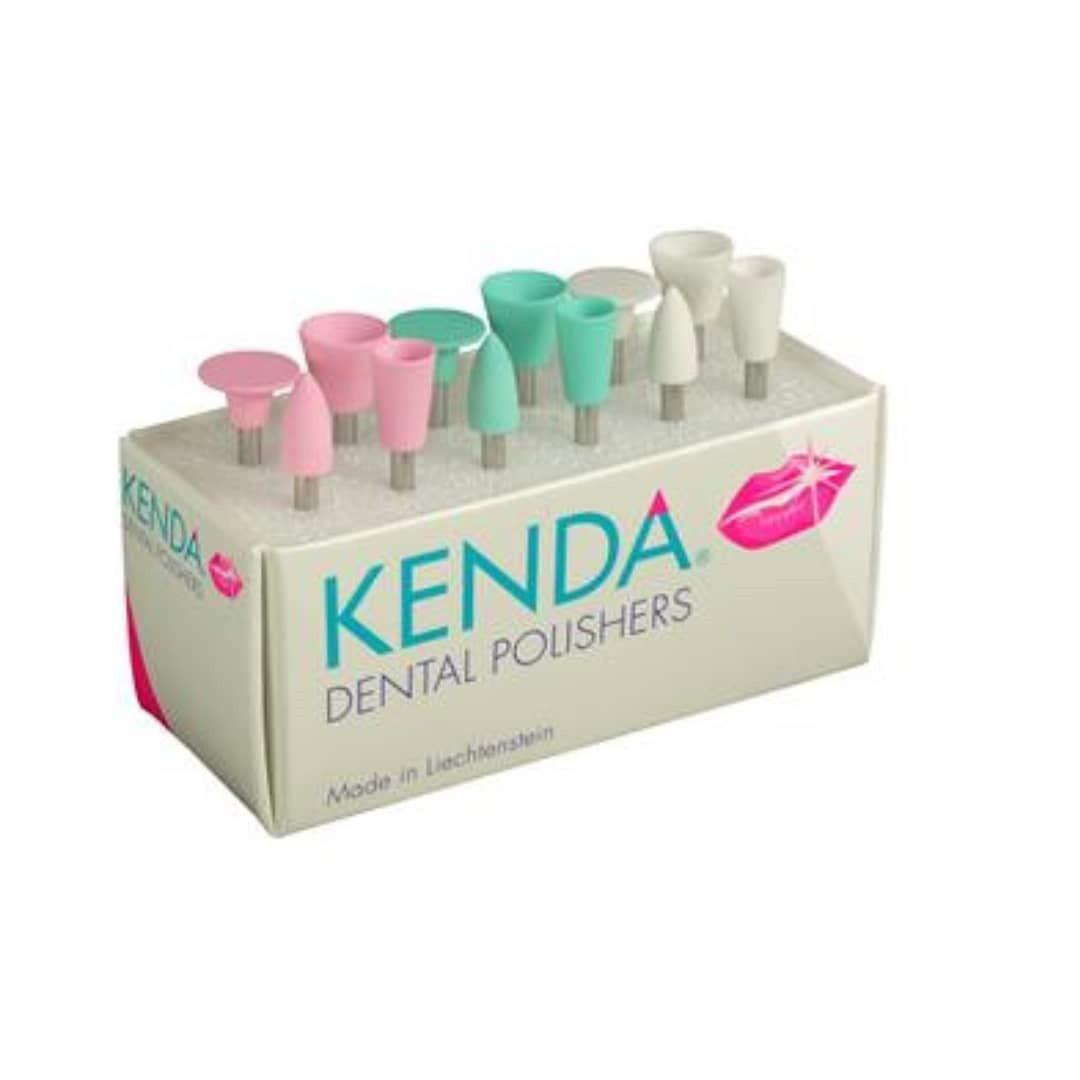 KENDА, набор 12 шт, полировальные головки для композитов