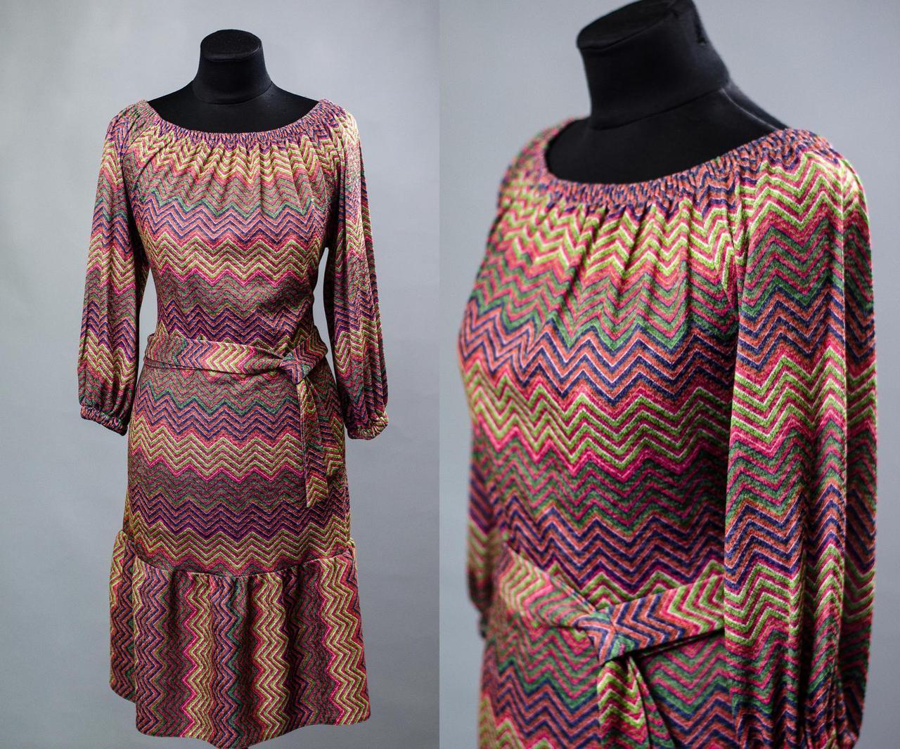 Красивое платье свободного кроя ткань (Трикотаж) 48, 50, 52, 54 размер батал