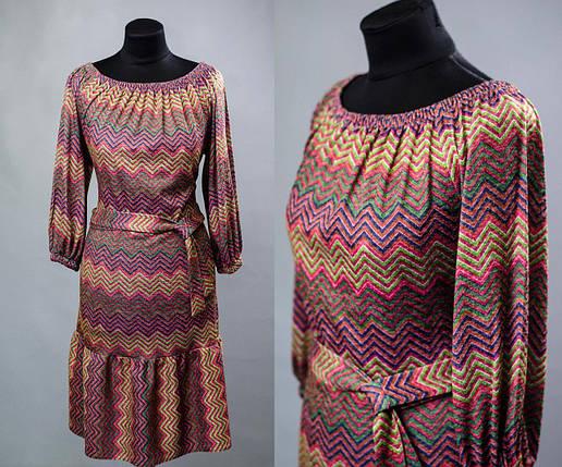 Красивое платье свободного кроя ткань (Трикотаж) 48, 50, 52, 54 размер батал, фото 2