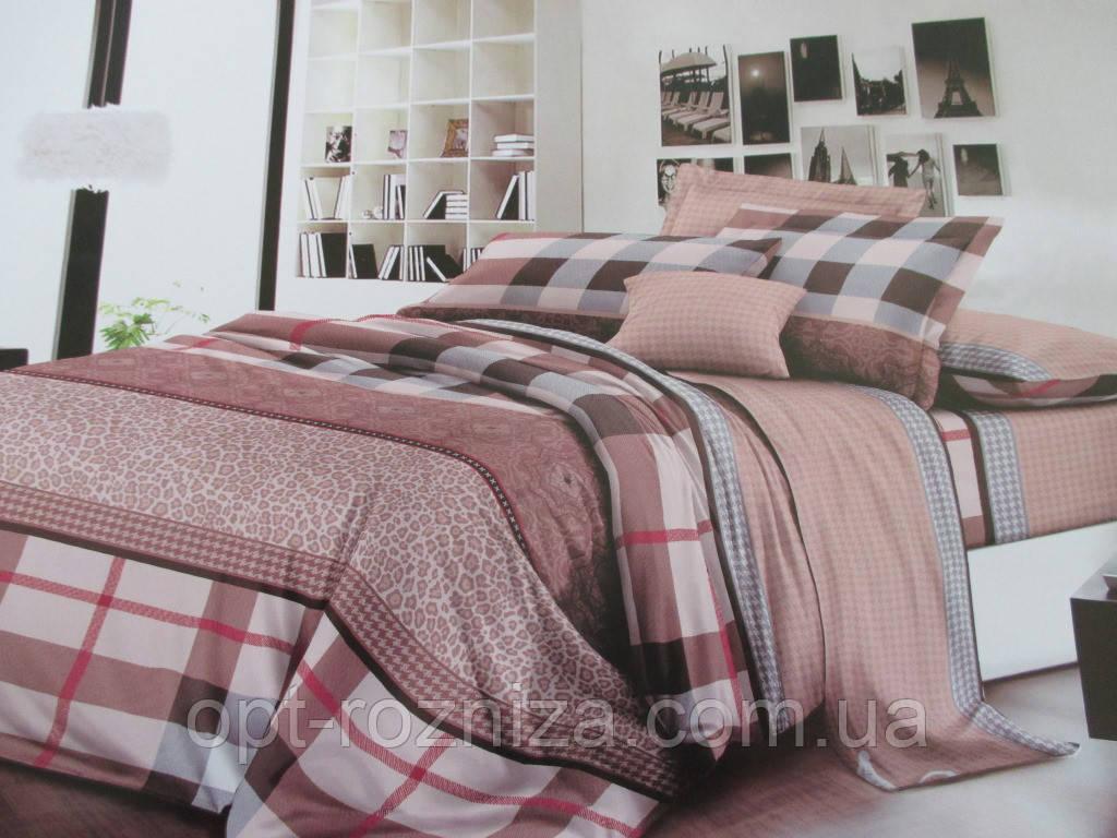 Двухспальное постельное белье с абстрактным рисунком.