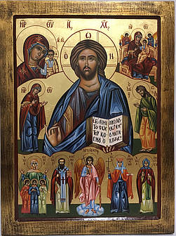 Икона Спаситель и Святые
