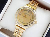 Женские наручные часы Michael Kors золотого цвета с перламутровым циферблатом и стразами, фото 1