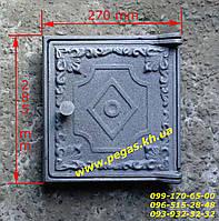 Дверка чугунная печная (270х285 мм) грубу, барбекю, мангал, печи, фото 1