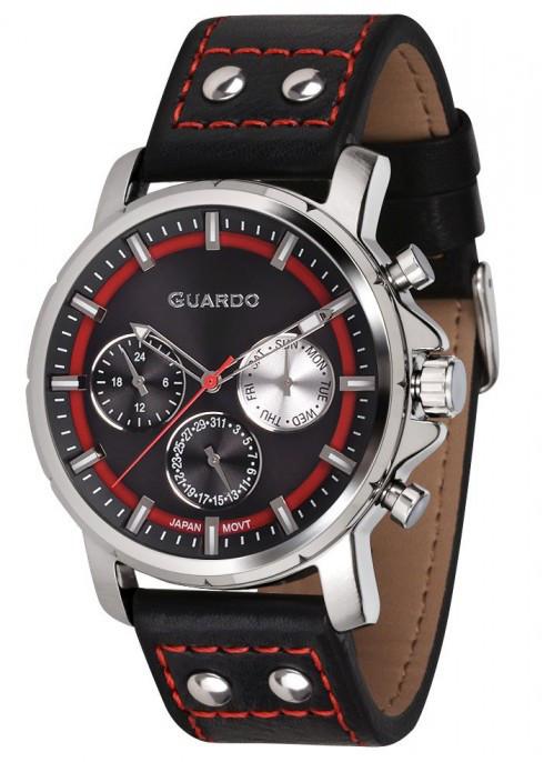 Чоловічі наручні годинники Guardo P11214 SBB
