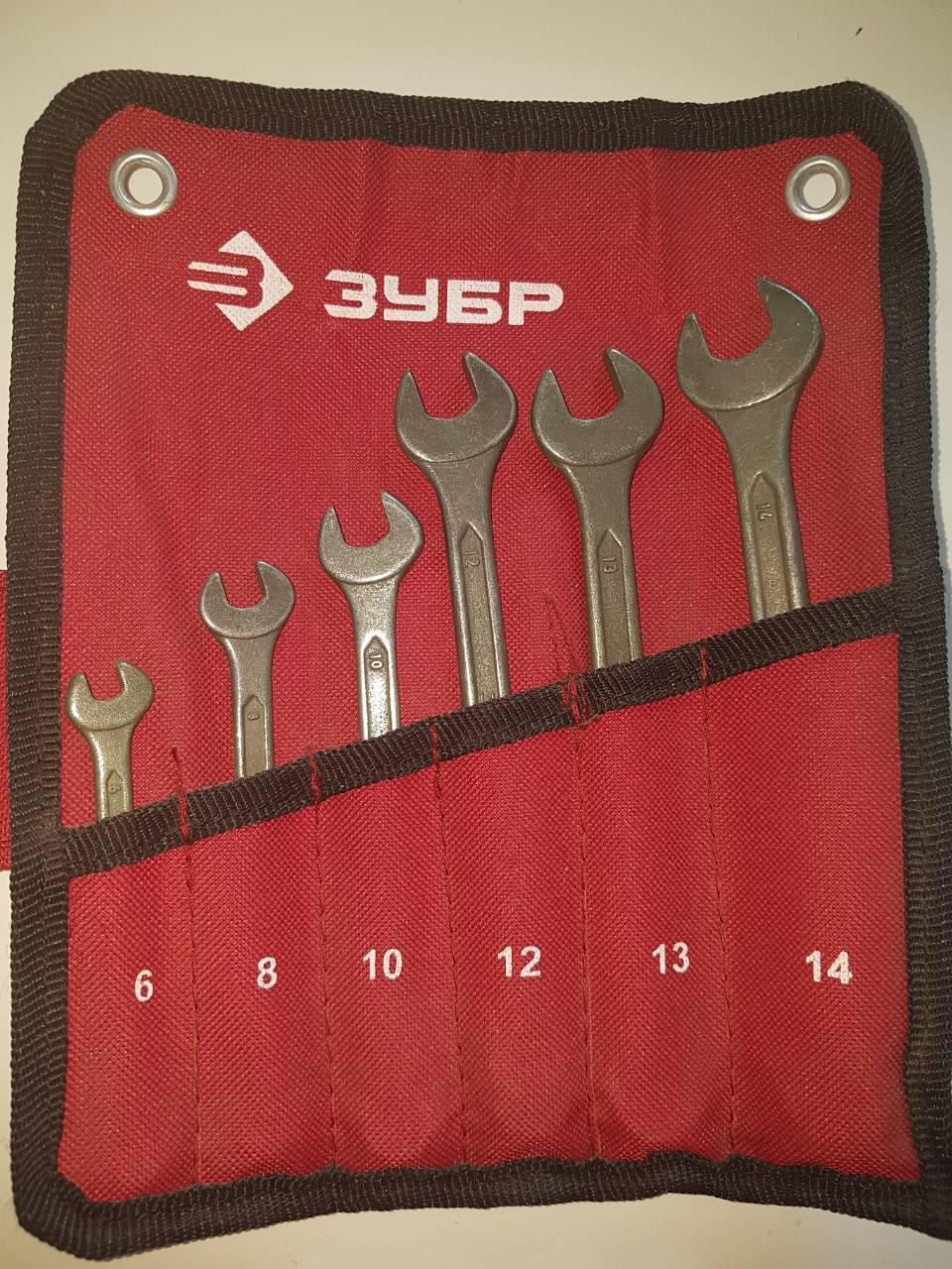 Набор комбинированных ключей 6 шт. ЗУБР 27025-Н6