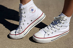 Женские кеды Converse All Star High белые, Конверс Ол Стар, фото 3