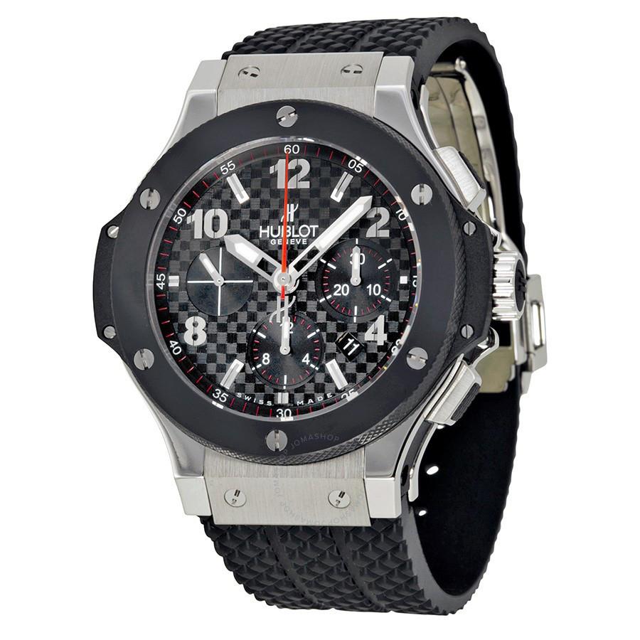 dc0874995abc Мужские наручные часы Hublot Big Bang Automatic Black-Metallic-Black механические  часы с автоподзаводом