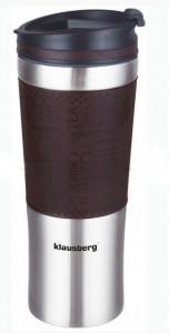 Термокружка Klausberg KB-7150 480мл Сріблясто-Коричнева