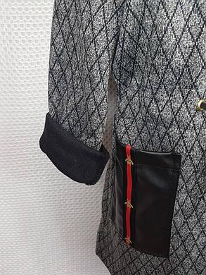 Модный кардиган на змейке для девочки р.128-146 серый, фото 2
