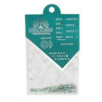 Камни кристалл Сваровски SS4 зеленые 720 шт 034