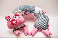 Хрюшка подушка подголовник бублик, фото 1