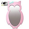 Дзеркало в дитячу рожеве Owl D1, фото 2