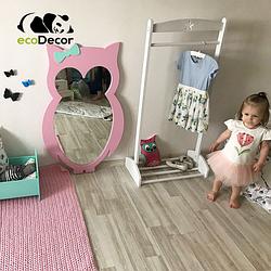 Зеркало в детскую розовое Owl D1