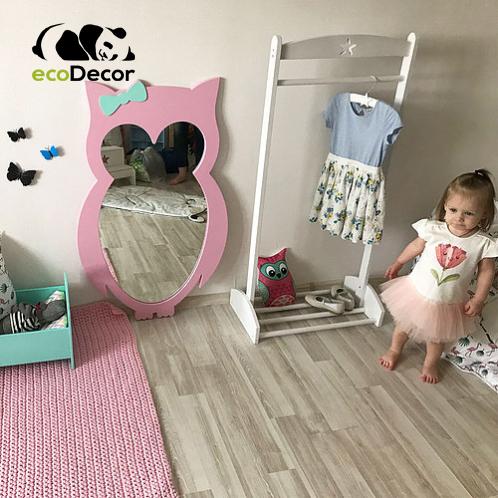 Зеркало в детскую розовое Owl