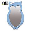 Зеркало в детскую комнату Owl голубое, фото 7