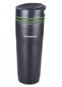 Термокружка Klausberg KB-7149 380мл Чорно-Зелена