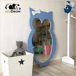 Зеркало в детскую голубое Owl D1