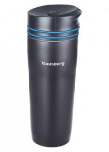 Термокружка Klausberg KB-7149 380мл Чорно-Синя