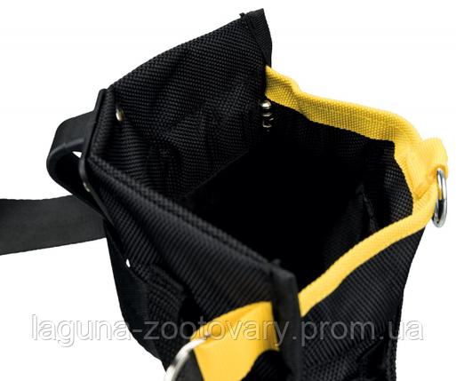 Сумка на пояс СПОРТИНГ23х19см/120см для лакомств, с карманами, до 120 см, черный/желтый, фото 2