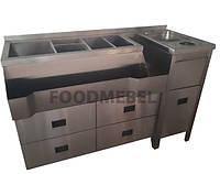 Барная станция FoodMebel с мойкой ринзером и выдвижными ящиками