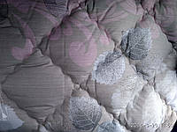 Одеяло хлопковое с  холлофайбером листья