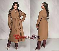 9f57d8188979 Женское длинное батальное кашемировое пальто без подкладки. Цвета!