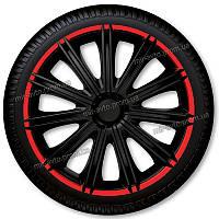 Колпаки R14 NERO R (черные с красным ободком) Argo