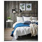 Комплект постельного белья IKEA PUDERVIVA 200х200 см белый 803.984.35, фото 6