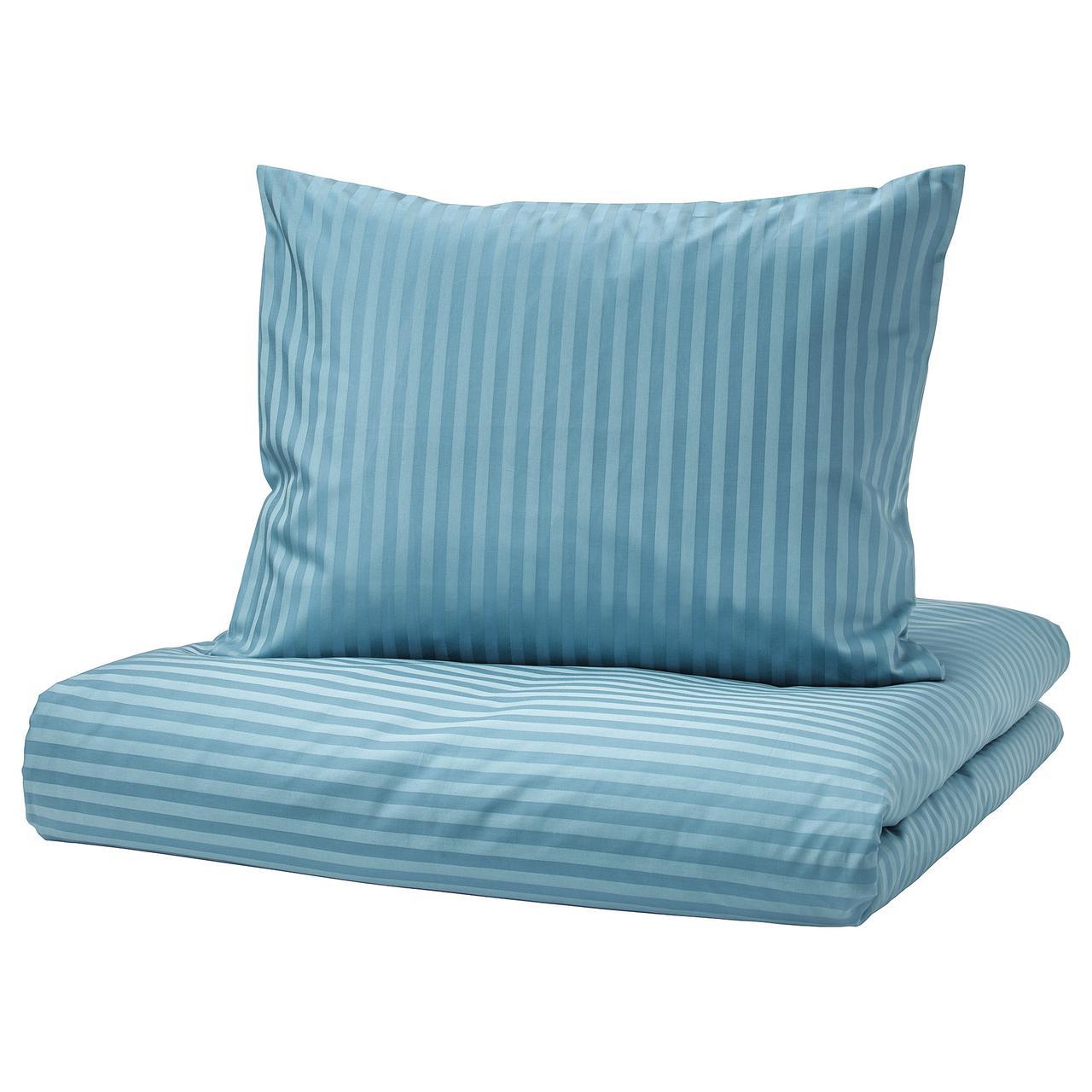 Комплект постельного белья IKEA NATTJASMIN 150х200 см синий 703.442.78