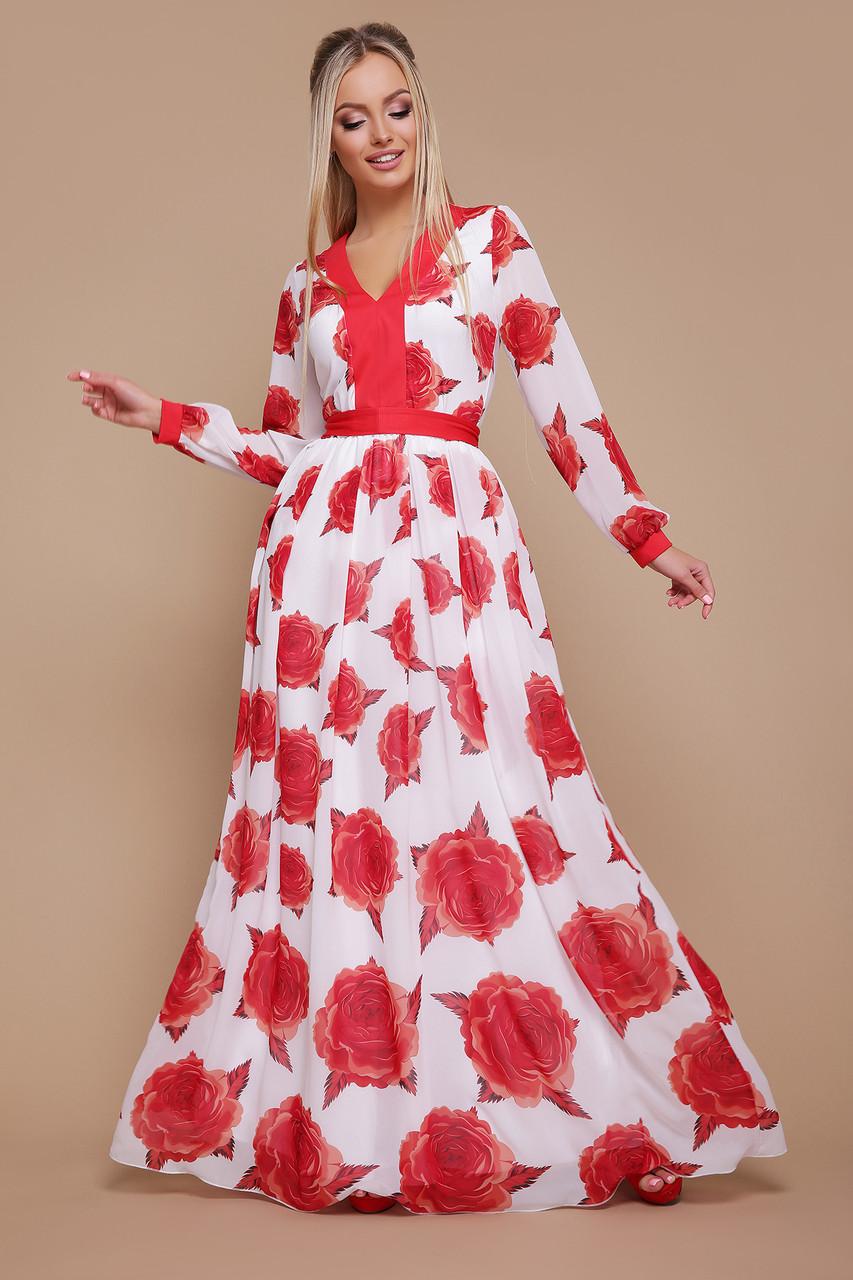 Роза красная платье Каролина д/р