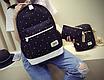 Рюкзак женский городской в горошек набор Werring Черный, фото 3