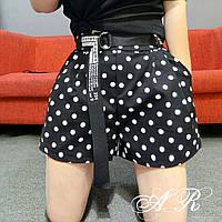 Женские стильные шорты  в горох, фото 1